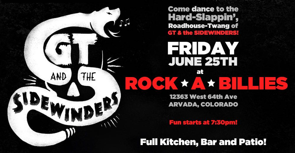Friday 6/25: GT & The Sidewinders